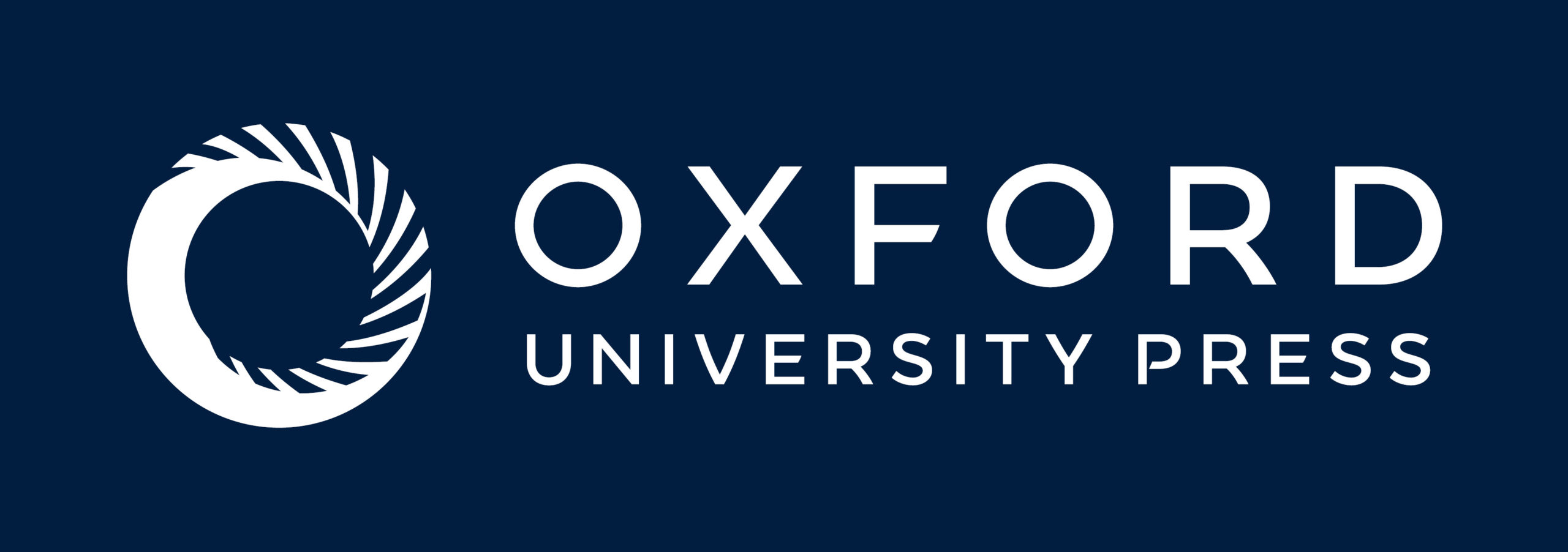 OUP Combined Logo White Oxford Blue